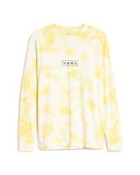 Vans Easy Box Logo Tie Dye Long Sleeve Graphic Tee