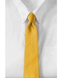 Lands' End Solid Silk Repp Necktie Rich Red