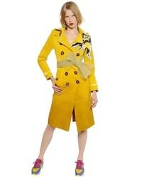 Gradient suede trench coat w bee detail medium 424028