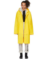 Vetements Yellow Logo Raincoat
