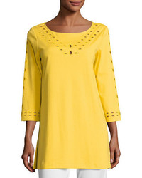 Cutout detail interlock tunic medium 4983978