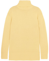 Chloé Cashmere Turtleneck Sweater Pastel Yellow