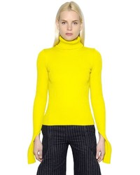 Jacquemus wool rib knit turtleneck sweater medium 1211363