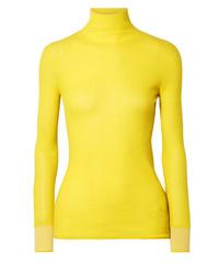 Victoria Victoria Beckham Ribbed Wool Turtleneck Sweater