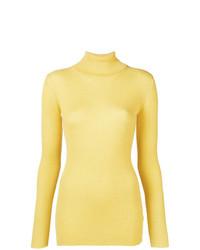 Iris von Arnim Roll Neck Ribbed Sweater
