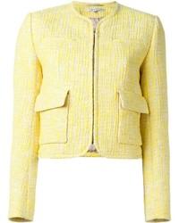 Carven patch pocket tweed jacket medium 420304