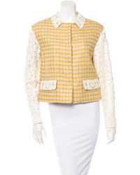 Moschino Cheap & Chic Moschino Cheap And Chic Lace Trimmed Tweed Jacket W Tags