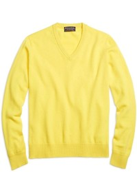 Yellow V-neck Sweaters for Men | Men's Fashion