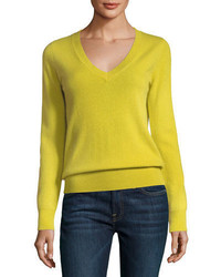 Cashmere collection classic cashmere v neck sweater medium 4156549