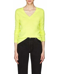 Barneys New York Cashmere V Neck Sweater