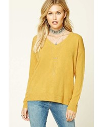 Forever 21 Contemporary V Neck Sweater