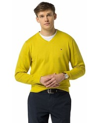 Tommy Hilfiger Cotton And Silk V Neck Sweater