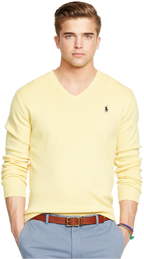 Polo Ralph Lauren Pima V Neck Sweater | Where to buy & how to wear