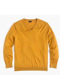Slim italian merino wool v neck sweater medium 5257969