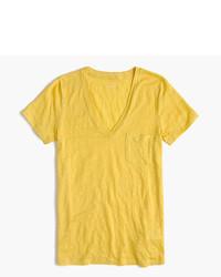 Linen v neck pocket t shirt medium 521987