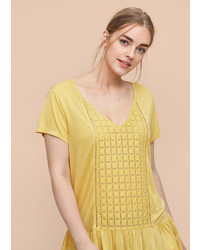 Violeta BY MANGO Openwork Panel T Shirt