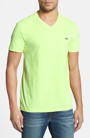 327274f4 Lacoste Pima Cotton Jersey V Neck T Shirt, $49   Nordstrom ...