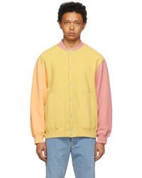 Levi's Vintage Clothing Yellow Orange Central Stationdesign Edition Fleece Jacket
