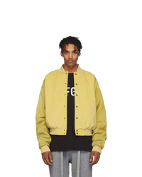 Fear Of God Yellow Suede Sixth Collection Varsity Jacket