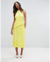 Premium crushed velvet midi skirt medium 5370960