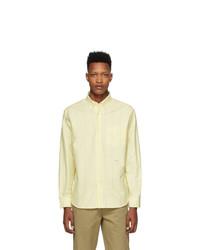 Noah NYC Yellow Wide Stripe Oxford Shirt