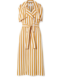 Maison Margiela Striped Crepe Maxi Dress