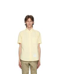 Thom Browne Yellow Seersucker Short Sleeve Shirt