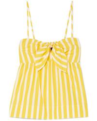 J.Crew Mireille Knotted Striped Cotton Poplin Camisole
