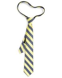 Boys stripe silk cotton zipper tie medium 900385