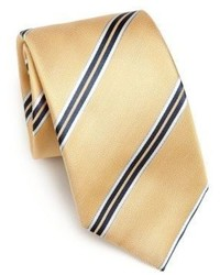 Saks Fifth Avenue Collection Wide Stripe Silk Tie