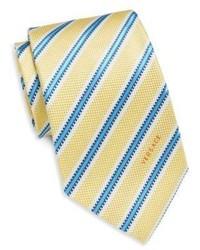 Versace Regital Stripe Silk Tie