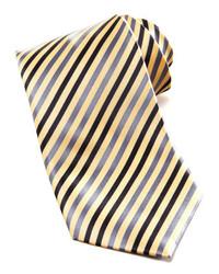 Stefano Ricci Striped Silk Tie Yellow