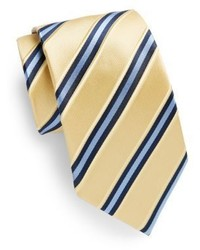 Saks Fifth Avenue Two Tone Stripe Silk Tie Gift Box