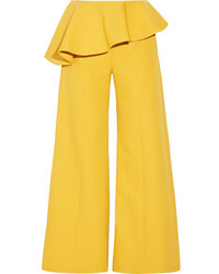 Bearded iris peplum cotton twill wide leg pants marigold medium 1152626