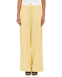 3.1 Phillip Lim Wool Drawstring Waist Wide Leg Pants
