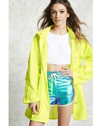 Forever 21 Hooded Longline Windbreaker