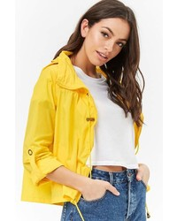 Forever 21 Nylon Zip Front Windbreaker