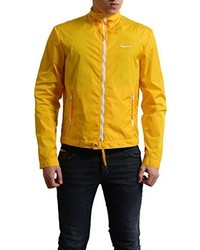 DSQUARED2 Yellow Full Zip Windbreaker Jacket