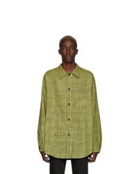 Yellow Wool Shirt Jacket
