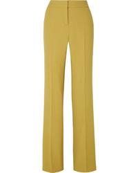 Bottega Veneta Wool Crepe Wide Leg Pants