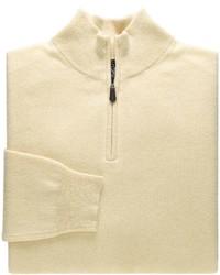 Yellow Zip Neck Sweater