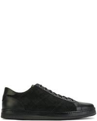 Zapatillas a cuadros negras de Canali
