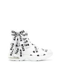 Zapatillas altas blancas de MSGM