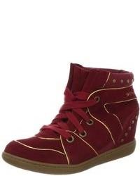 Zapatillas altas burdeos