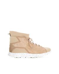 Zapatillas altas de ante marrón claro de Leflow