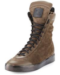 Zapatillas altas de ante marrónes de Giuseppe Zanotti