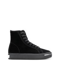 Zapatillas altas de ante negras de Alexander Wang