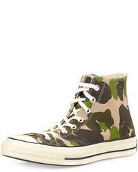 Zapatillas altas de camuflaje verde oscuro de Converse