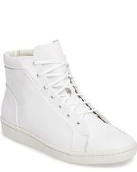 Zapatillas altas de cuero blancas