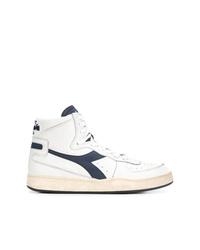 Zapatillas altas de cuero blancas de Diadora